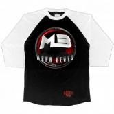 MaxxBeats Red Logo Mens 3/4 Sleeve by Audio Swag