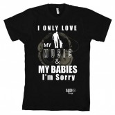 Love Music and Babies Mens T by Audio Swag