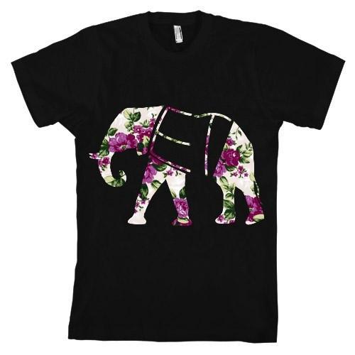 Floral Elephant T Shirt
