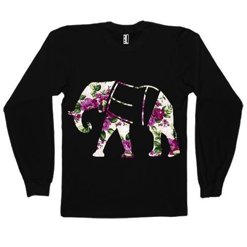Floral Elephant Long Sleeve Shirt