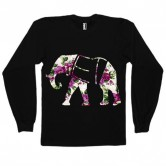 Floral Elephant Long Sleeve Shirt