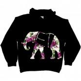 Floral Elephant Hoodie