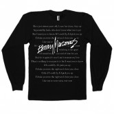 BENNY MARDONES LYRICS MEN'S LONG SLEEVE TEE