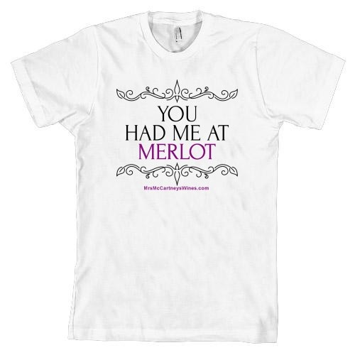 You had me at Merlot (White, Mens, Short Sleeve