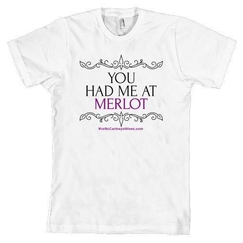 You had me at Merlot (White, Mens, Short Sleeve