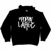Poppa Large White Logo Pullover Hoodie