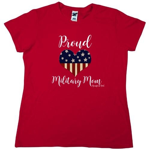 Homefront Girl® Proud Military Mom  RED tee
