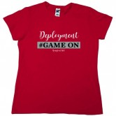 Homefront Girl® Deployment #GameOn Red tee