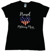 Homefront Girl® Proud Military Mom Mug  black tee