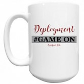 Homefront Girl® Deployment #GameOn White mug
