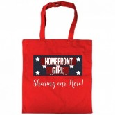 Homefront Girl® Red tote bag Military Spouse Anything but Dependent