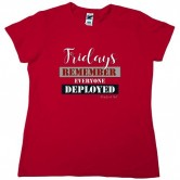 Homefront Girl® Fridays Remember Everyone Deployed Red Tee