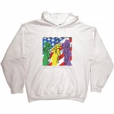 The Flirts Cover Hoodie White
