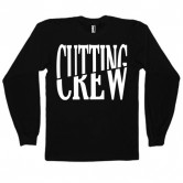 Cutting Crew Logo Men's Long Sleeve Black