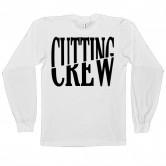 Cutting Crew Logo Long Sleeve White