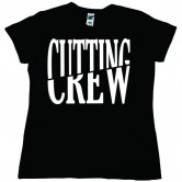 Cutting Crew Logo Women's Tee Black