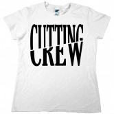 Cutting Crew Logo Womens Tee White