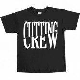 Cutting Crew Logo Youth Tee Black