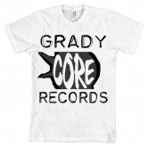GradyCoreRecords OldSkool Front (white shirt)